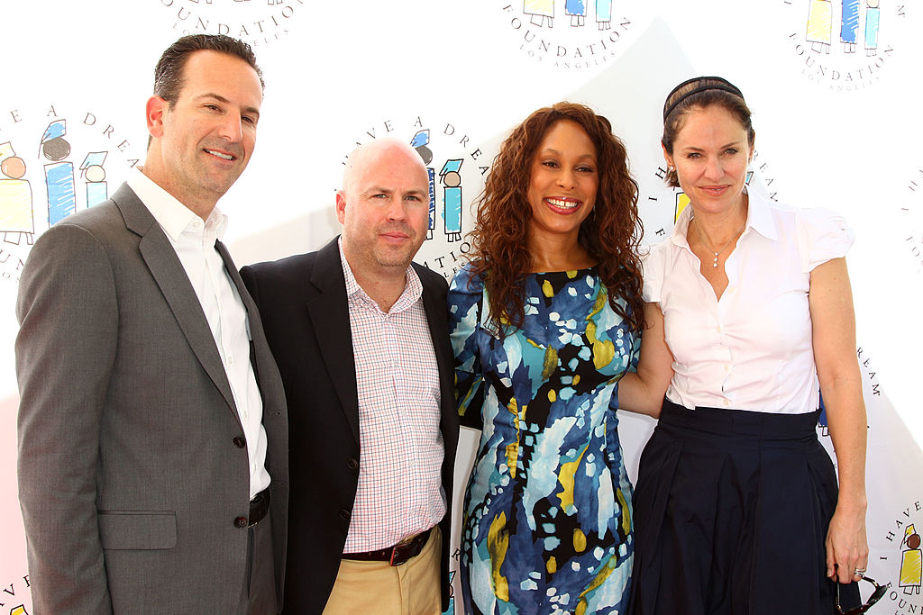 LOS ANGELES, CA - MARCH 04:  Darryl Frank , Justin Falvey, Channing Dungey and Amy Brenneman at I Have A Dream Foundation's 14th Annual Dreamers Brunch held at The Skirball Cultural Center on March 4, 2012 in Los Angeles, California.