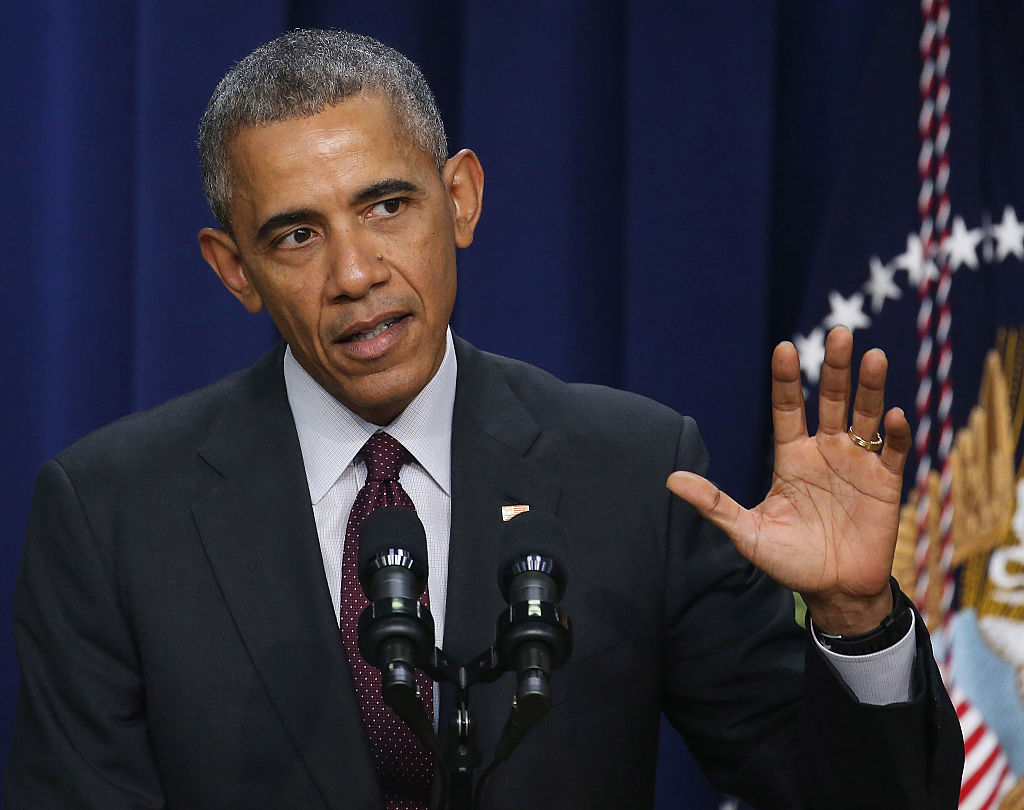 WASHINGTON, DC - JANUARY 29:  U.S. President Barack Obama speaks on the 7th Anniversary of signing the Lilly Ledbetter Fair Pay Act, at the White House January 29, 2016 in Washington, DC. In 2009 President Obama signed the Lilly Ledbetter Fair Pay Act, named after a woman who discovered her employer was paying her less than men doing the same job.